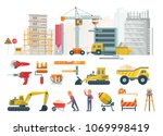 construction vector flat...   Shutterstock .eps vector #1069998419