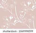 vector pastel colorful... | Shutterstock .eps vector #1069998599