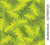 seamless pattern with plant... | Shutterstock .eps vector #107000510