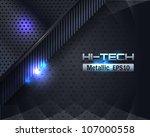 hi tech metallic background...   Shutterstock .eps vector #107000558