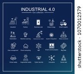 industry 4.0 and smart... | Shutterstock .eps vector #1070012579