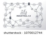 industry 4.0 infographic and... | Shutterstock .eps vector #1070012744