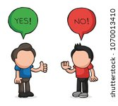 vector hand drawn cartoon... | Shutterstock .eps vector #1070013410