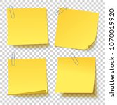 collection of different yellow... | Shutterstock .eps vector #1070019920
