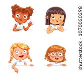 cartoon collection of little... | Shutterstock .eps vector #1070020298