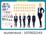 set of businesswoman character...   Shutterstock .eps vector #1070022143