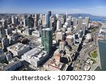 san francisco downtown ... | Shutterstock . vector #107002730