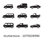 set of black car icons. motor... | Shutterstock .eps vector #1070028980