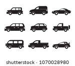 set of black car icons. motor... | Shutterstock .eps vector #1070028980
