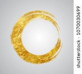 circle grunge hand drawn golden ...   Shutterstock .eps vector #1070030699