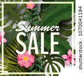 sale summer banner  poster with ...   Shutterstock .eps vector #1070041184