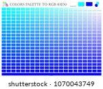 color palette mixer 3 color ... | Shutterstock .eps vector #1070043749