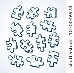 scattered blank cut kid scheme... | Shutterstock .eps vector #1070049623