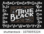 bold rough typeface with... | Shutterstock .eps vector #1070055224