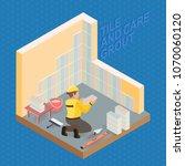 isometric interior repairs... | Shutterstock .eps vector #1070060120