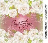 wedding card or invitation with ... | Shutterstock .eps vector #107006099