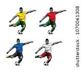 illustration soccer player pose ... | Shutterstock .eps vector #1070061308