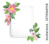 floral pattern with paper... | Shutterstock . vector #1070066918