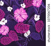 seamless floral pattern in... | Shutterstock .eps vector #1070067206