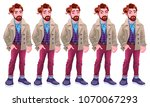 boy with different expressions. ... | Shutterstock .eps vector #1070067293