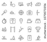thin line icon set   tent...   Shutterstock .eps vector #1070073356