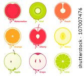 fruits icons   design elements | Shutterstock .eps vector #107007476