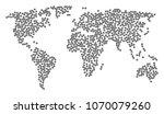 worldwide concept map designed... | Shutterstock .eps vector #1070079260