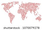 global mosaic map composed of... | Shutterstock .eps vector #1070079278