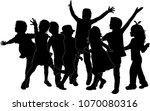 childrens black silhouettes.   Shutterstock .eps vector #1070080316