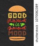 conceptual art of burger.... | Shutterstock .eps vector #1070082389