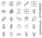 thin line icon set   idea... | Shutterstock .eps vector #1070083043