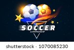 soccer competition label design ... | Shutterstock .eps vector #1070085230
