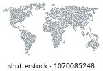 geographic concept map composed ... | Shutterstock .eps vector #1070085248