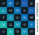 modern simple set of cloud and... | Shutterstock .eps vector #1070085560