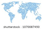 geographic concept map composed ... | Shutterstock .eps vector #1070087450