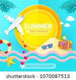 summer background with sweet... | Shutterstock .eps vector #1070087513