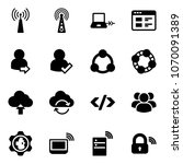 solid vector icon set   antenna ... | Shutterstock .eps vector #1070091389