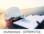 working solar station... | Shutterstock . vector #1070091716