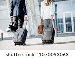 business couple walking... | Shutterstock . vector #1070093063
