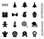 solid vector icon set   cafe... | Shutterstock .eps vector #1070093234