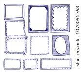 set of doodle lines hand drawn... | Shutterstock .eps vector #1070095763