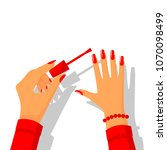 manicure poster. template... | Shutterstock .eps vector #1070098499