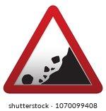a triangular rocks falling... | Shutterstock .eps vector #1070099408