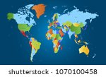 color world map vector | Shutterstock .eps vector #1070100458