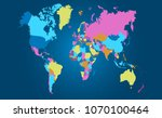 color world map vector | Shutterstock .eps vector #1070100464