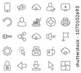 thin line icon set   plate... | Shutterstock .eps vector #1070102693