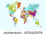 color world map vector | Shutterstock .eps vector #1070102978