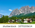 cortina d'ampezzo with... | Shutterstock . vector #1070103614