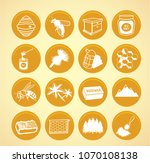 yellow beekeeping icons.vector... | Shutterstock .eps vector #1070108138