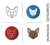 border collie icon. scottish... | Shutterstock .eps vector #1070108570